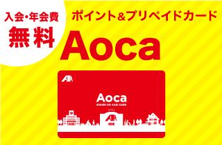 入会・年会費無料 ポイント&プリペイドカード Aoca